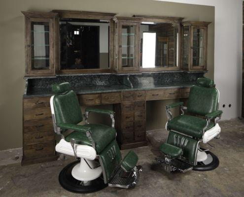 Vintage Barberunit Easily Expandable Vintage Barbershop Interior Barber Shop Interior Barber Shop Decor Barber Shop Chairs
