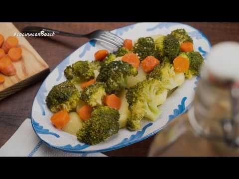 Brocoli Con Patatas Y Zanahoria Con Autocook Youtube Brocoli Con Patatas Comida Verduras