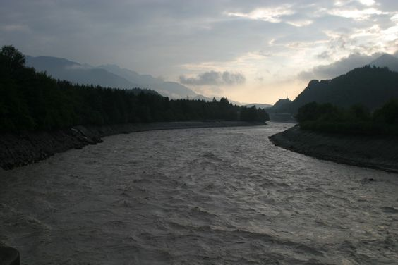 Hochwasser bei Domat/Ems