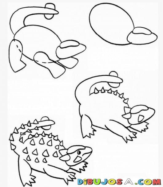 Como aprender a dibujar un donosaurio por pasos para - Aprender a pintar ...