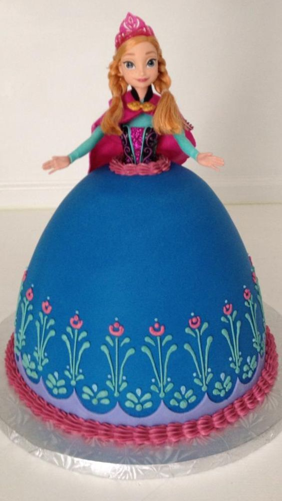 Anna cake by sweet LiLus for Abigail's frozen birthday party: