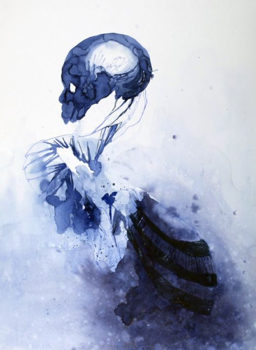 by  Joris Kuipers, at first glance I thought the skull was made from layered feathers!
