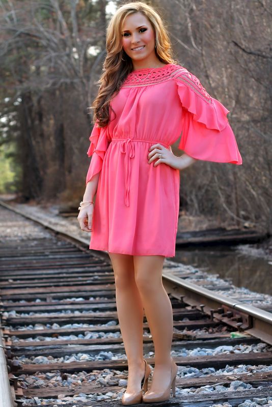 Express Yourself Dress: Coral