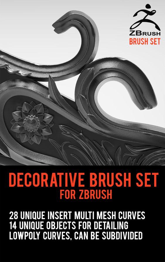ZBrush IMM Brush Set, Marvin Lorenz on ArtStation at https://www.artstation.com/artwork/3bWOv