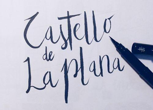 Lettering básico y aplicado en capas. ;)