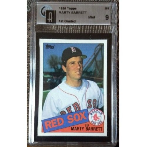 For Sale 1985 Topps Marty Barrett 298 Rc Webstore In 2020 Baseball Trading Cards Don Mattingly Barry Larkin