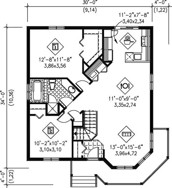 Stupendous Cottage House Plan Chp 32065 At Coolhouseplans Com Our Very Largest Home Design Picture Inspirations Pitcheantrous