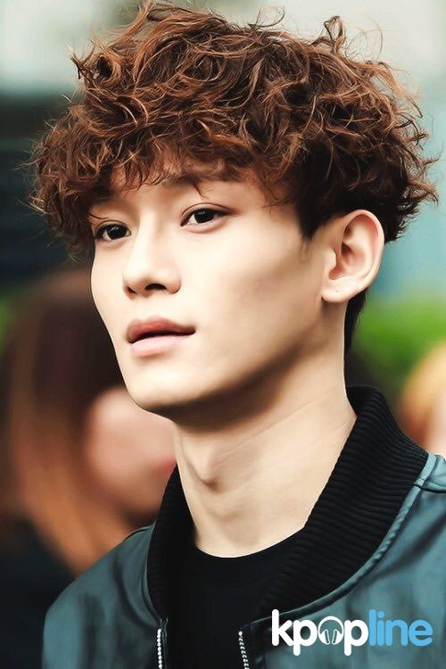 Image Result For Kpop Hairstyles Male Korean Hairstyle Exo Chen Curly Hair Styles