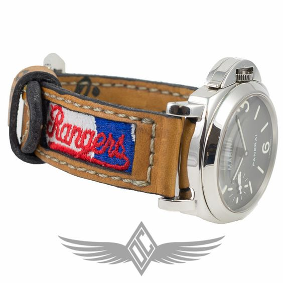 Custom Watch Strap Texas Rangers Nolan Ryan Glove Panerai Vintage Baseball Gloves Custom Watch Watch Strap