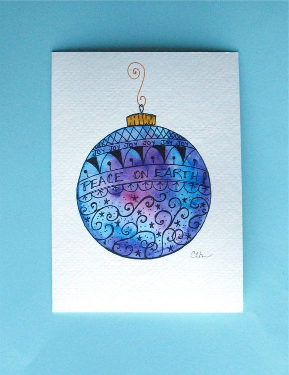 Watercolor cards, Watercolors and Christmas cards