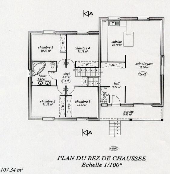 Plan maison demi niveau for Maison demi niveau toit plat