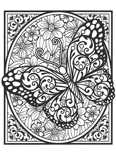Butterflies For Colorists Bojanke Za Odrasle Pinterest