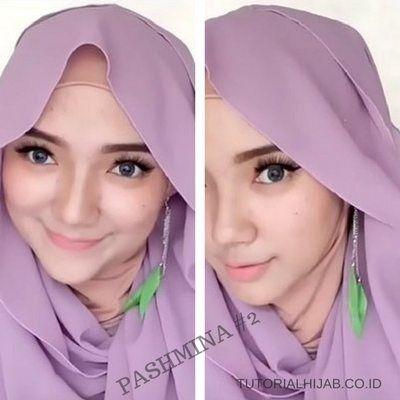 Tutorial Hijab Segiempat Menggunakan Anting Anting Pesta Baju Muslim