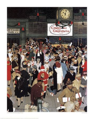 Norman Rockwell - Union Station Chicago - By: Norman Rockwell ...