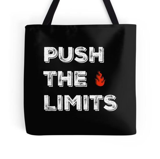 Push The Limits - Typography Totebags