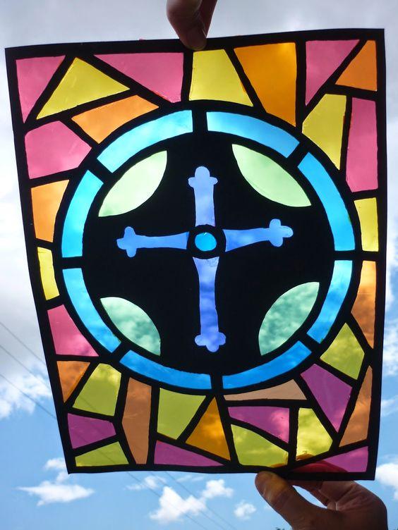 vitrales sencillos para niños con papel celofan - Buscar ... - photo#44