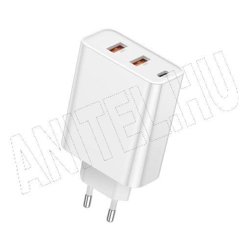Baseus Speed PPS hálózati gyorstöltő (2xUSB + USB C töltő