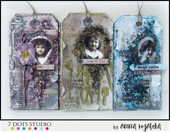 Metalic colors or texture - tags by Anna Rogalska