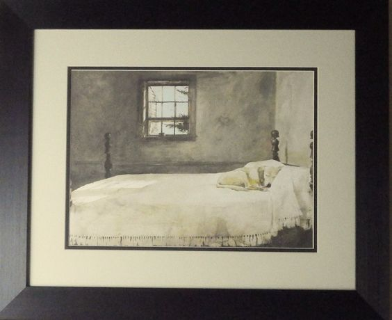 andrew wyeth master bedroom framed master bedrooms beds and dogs