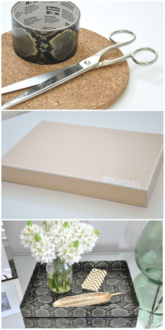 Make Your Own Corralling Tray With A Shoe Box Lid And Duct