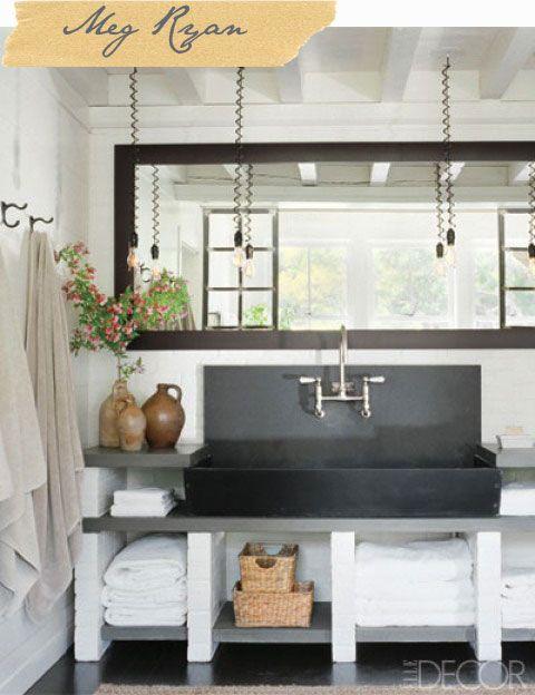 Meg Ryan's bathroom from Elle Decor
