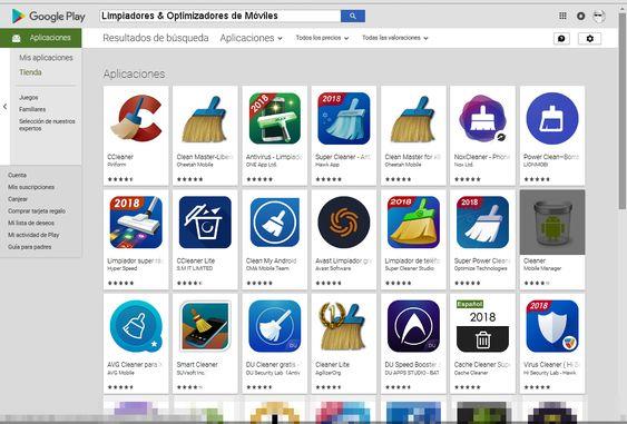 Limpiadores de Apps para dispositivos móviles