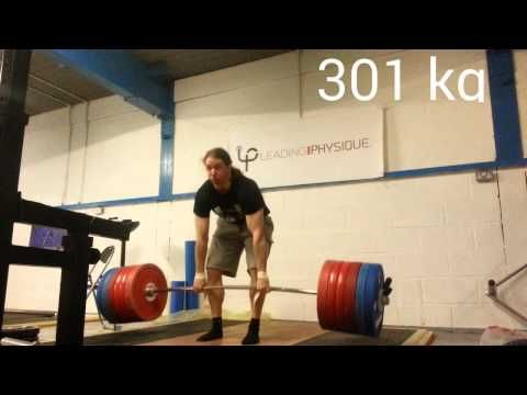 Deadlift 301kg / 663lb x 6, squat 232.5kg x 5 (PB) - YouTube