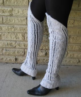 Restyle Sweater Sleeves into Leg Warmers - CraftStylish