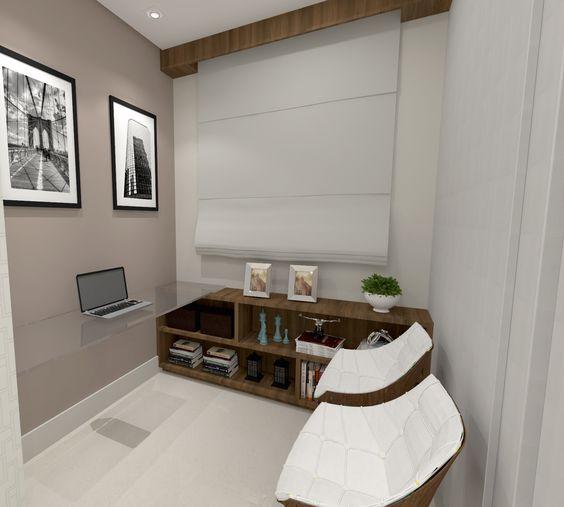 Todo espaço deve ser utilizado! Home office | Projeto Lilian Simões Arquitetura