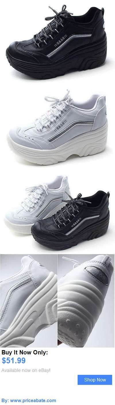Women Shoes: New Women Cheerleaders Shoes Casual High Heel Lace Up Platform Sneakers Trainers BUY IT NOW ONLY: $51.99 #priceabateWomenShoes OR #priceabate