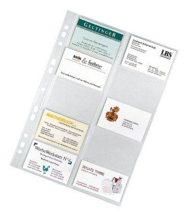 Veloflex 5341000 Visitenkartenhüllen DIN A4 20 Karten pro Hülle, 10er Packung: Amazon.de: Bürobedarf & Schreibwaren