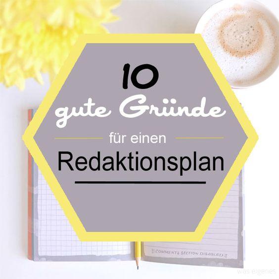 10 gute Gründe für einen Redaktionsplan (oder Themenplan) für Deinen Blog! / was eigenes