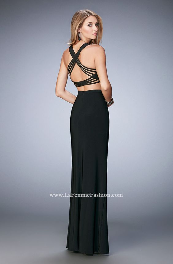 You are sure to feel glamorous and beautiful in La Femme Style #22236 available at Whatchamacallit Boutique