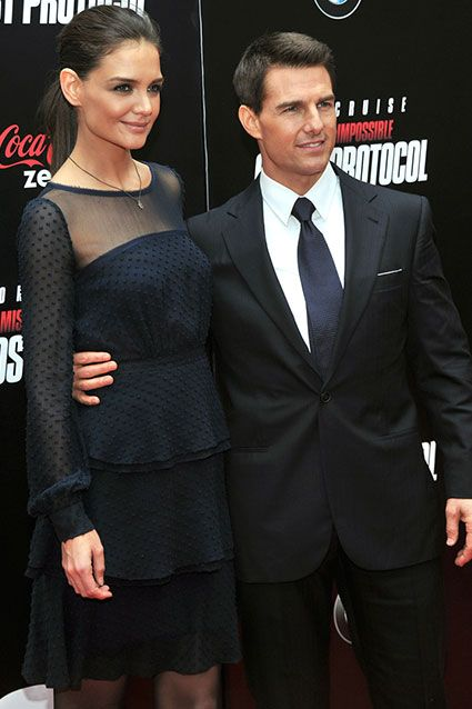 December 19, 2011    Katie Holmes and Tom Cruise attend the Mission: Impossible - Ghost Protocol premiere on December 19, 2011 in New York City.