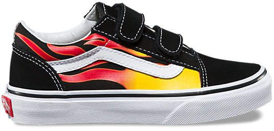 Kids Flame Old Skool V   Vans kids, Boys shoes, Vans classic