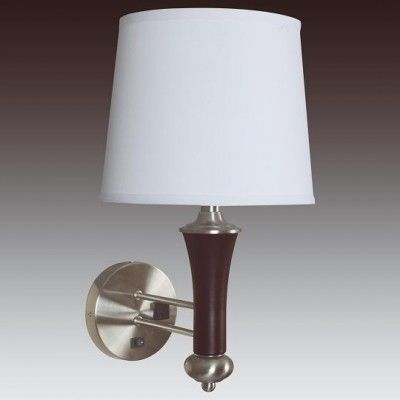 Single Nightstand Wall Sconce with Outlet for Hotel WL11003S