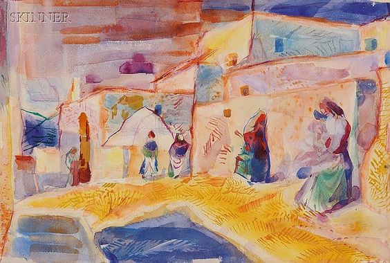 """Ibiza,"" Pierre Francis Daura, watercolor on paper, 14 7/8 x 21 7/8"", private collection."