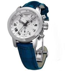 Tissot Women's Blue Leather Strap Quartz Chronograph Watch - product - Product Review