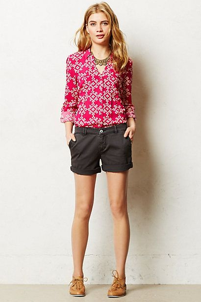 Go-Everywhere Shorts #anthropologie - and see the khaki shorts (I ...