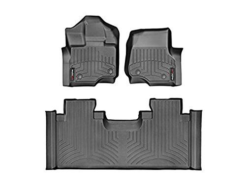 Weathertech Custom Fit Floorliner For F 150 F 150 Raptor 1st 2nd Row Black With Images Weather Tech Floor Liners Ford F150