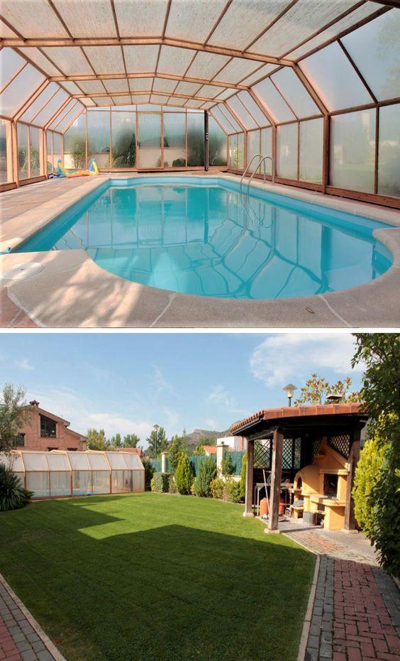 Soria Casa Piscina Climatizada Jardín Y Barbacoa Casa Grande 8 Habitaciones A 5 Minutos De Soria Casas Con Piscina Casas Rurales Casas Grandes