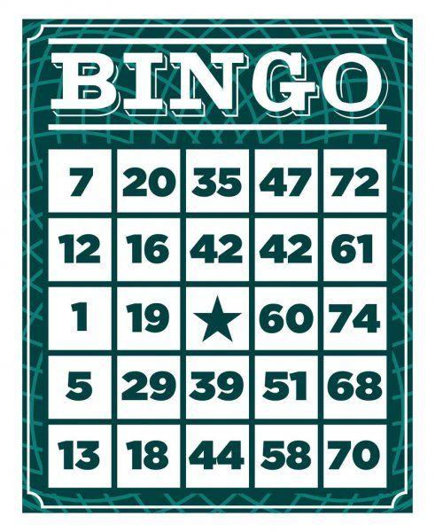 Modelo De Cartao De Jogo De Bingo Vintage Retro Ilustracao De Stock Bingo Games Card Games Retro Vintage
