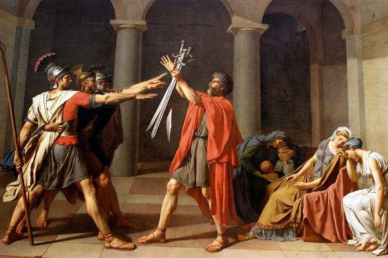 Jacques Louis David, Le sermentdes Horaces, 1784