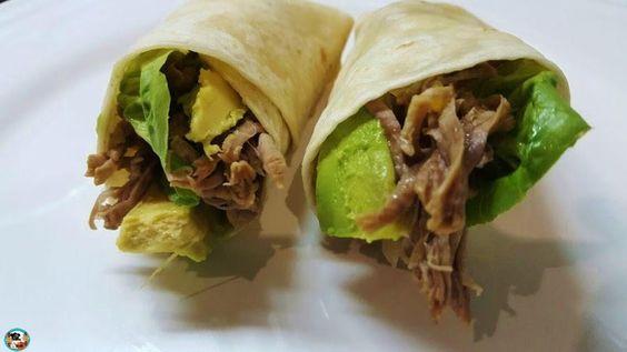 Burritos de carne mechada