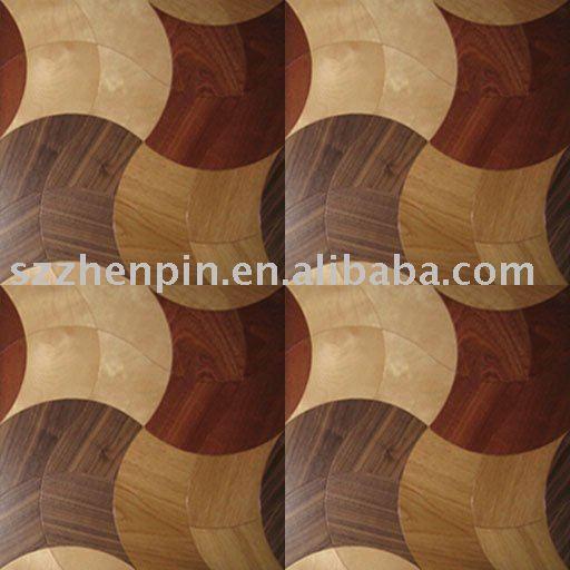 marqueterie en bois de marqueterie de plancher de parquet de balsamo