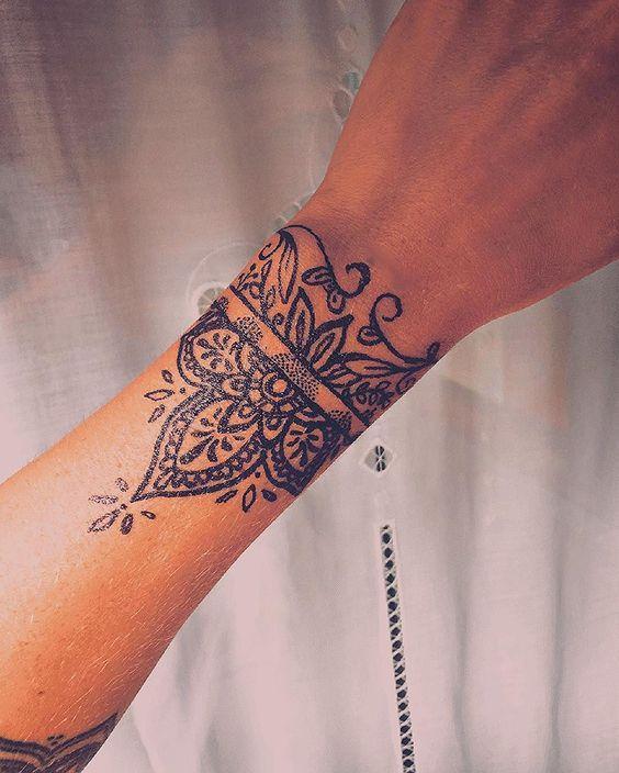 31 Top Tattoo Ideas Tattoos For Women Wrist Tattoos Cuff Tattoo