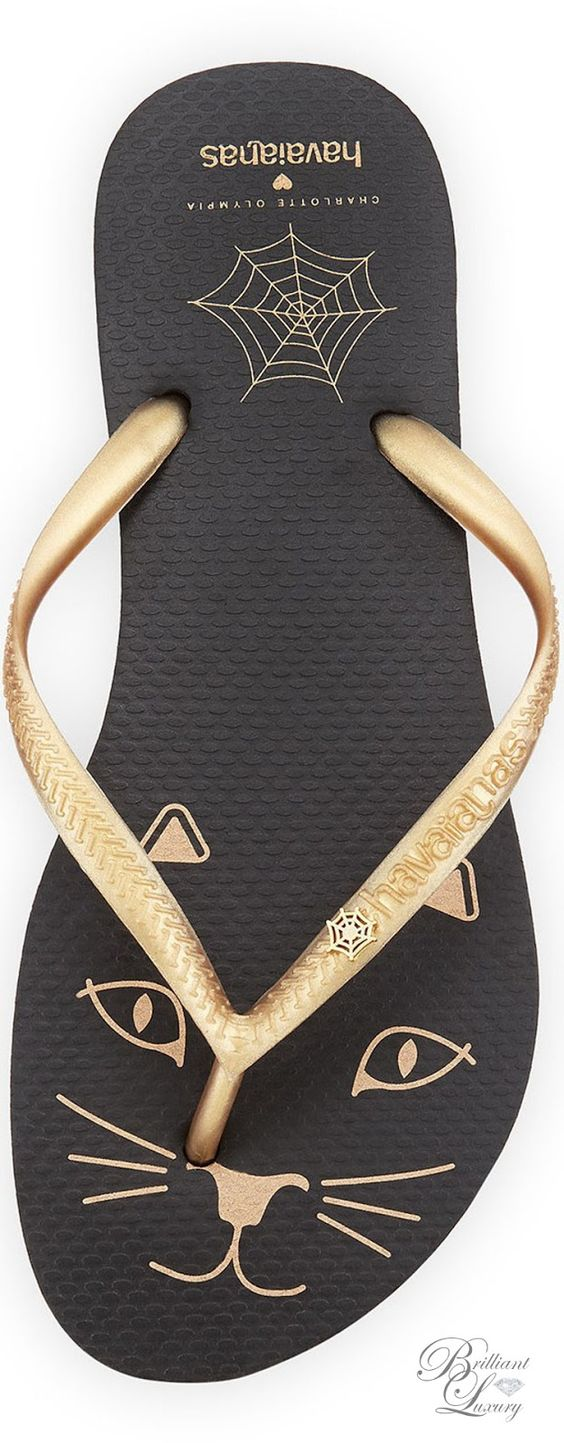 Brilliant Luxury * Charlotte Olympia Kitty Havaianas Rubber Flip Flop