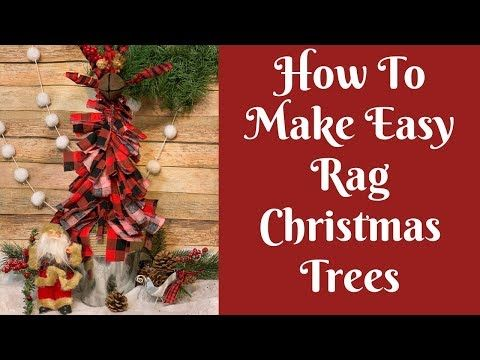 Christmas Crafts Easy Rag Christmas Tree Youtube Christmas Crafts Dollar Tree Christmas Diy Christmas Tree