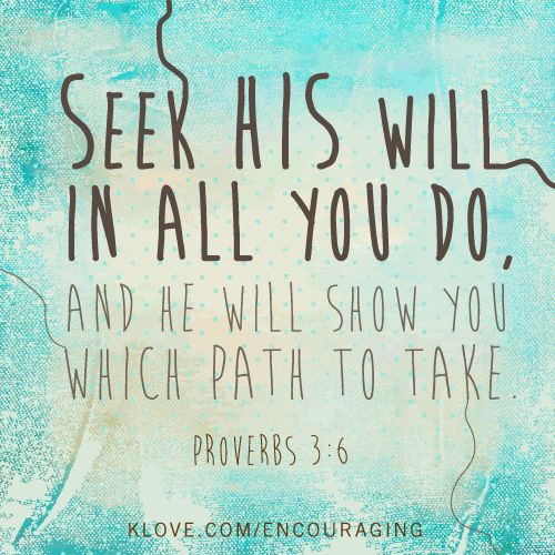 Encouraging Word Bible Verse Of The Day Http://klove.com