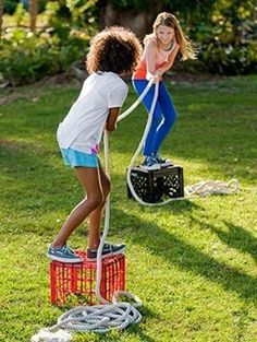 32 Of The Best DIY Backyard Games You Will Ever Play. Get ready for summer fun! #summer #kids #games
